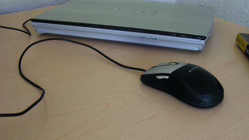 Mouse on desk
