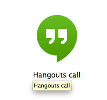 Google Chrome Google Hangouts App